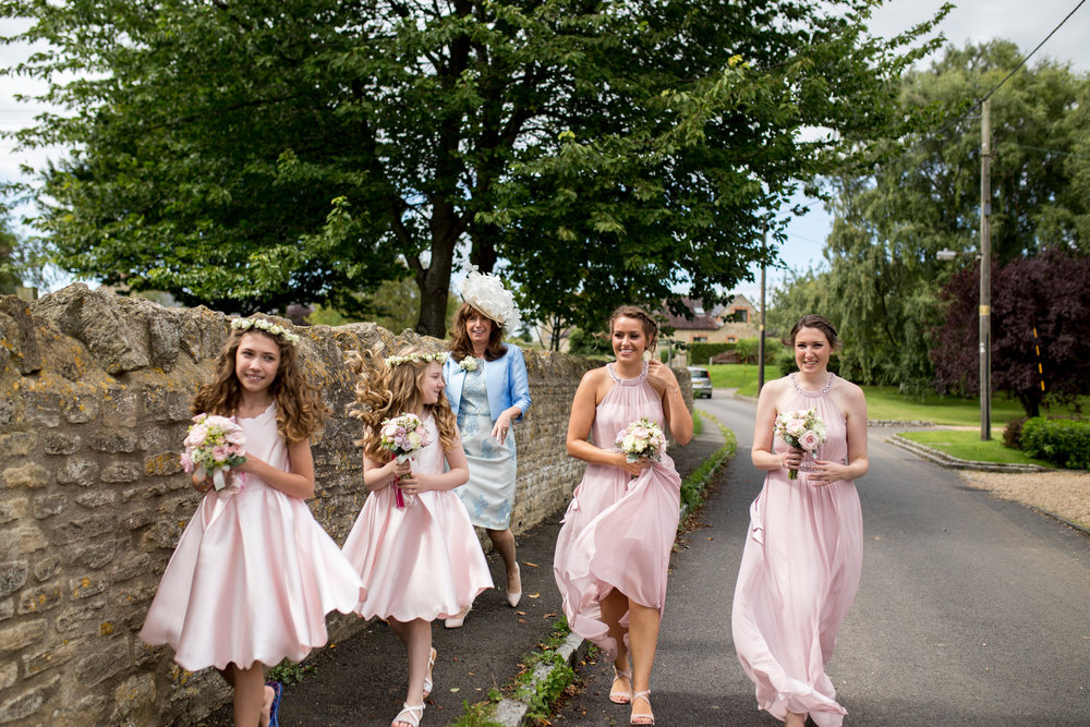 Emberton Wedding, Emberton Church, Bridesmaids, Buckinghamshire Wedding, Blush Pink, Mother Of The Bride,