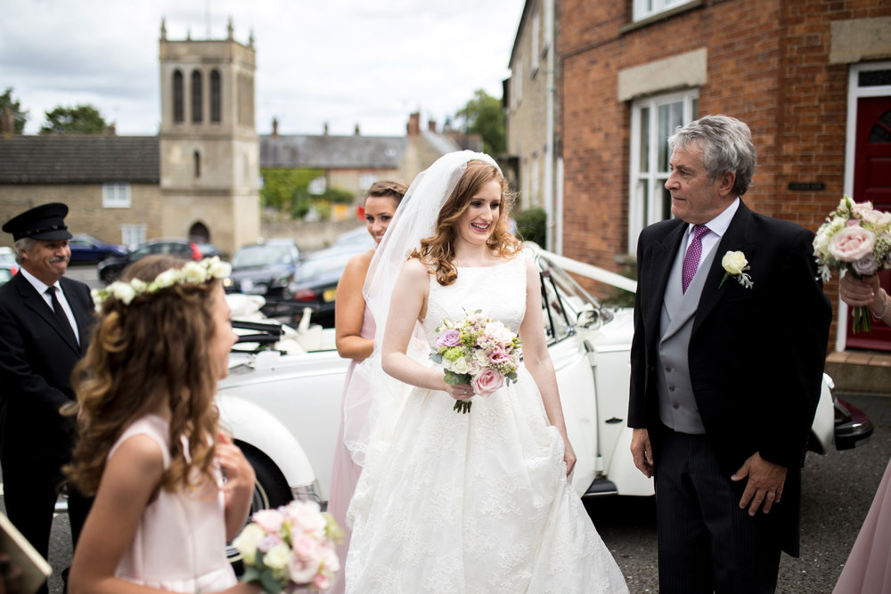 Bride, church, ceremony, father of the bride, Emberton Wedding,