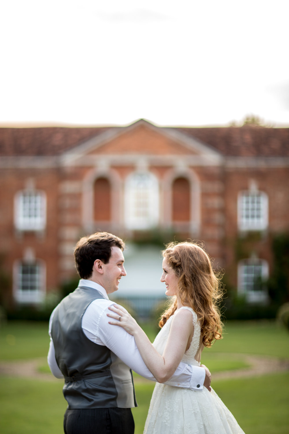 Couple, dancing, summer wedding, evening, Chicheley Hall, Buckinghamshire Wedding,