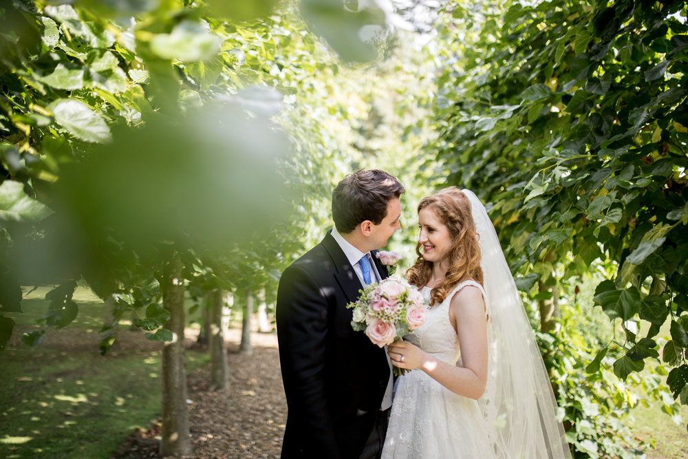 Couple Portraits, Chicheley Hall, Summer Wedding,