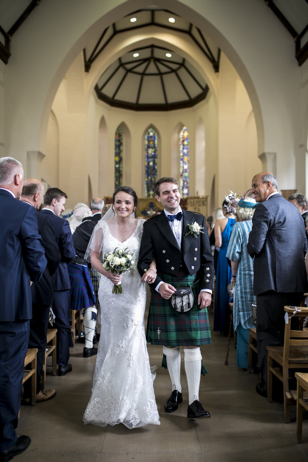 Church Wedding, Tartan, Scottish Wedding,