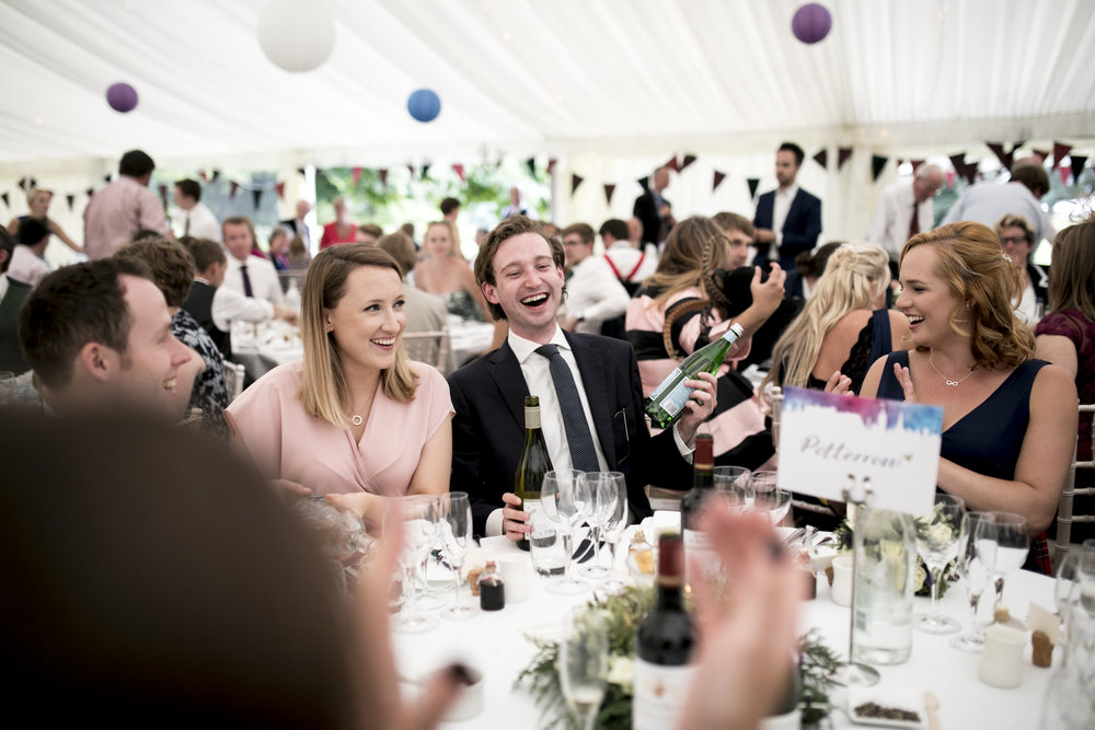Wedding Guests, Laughing,