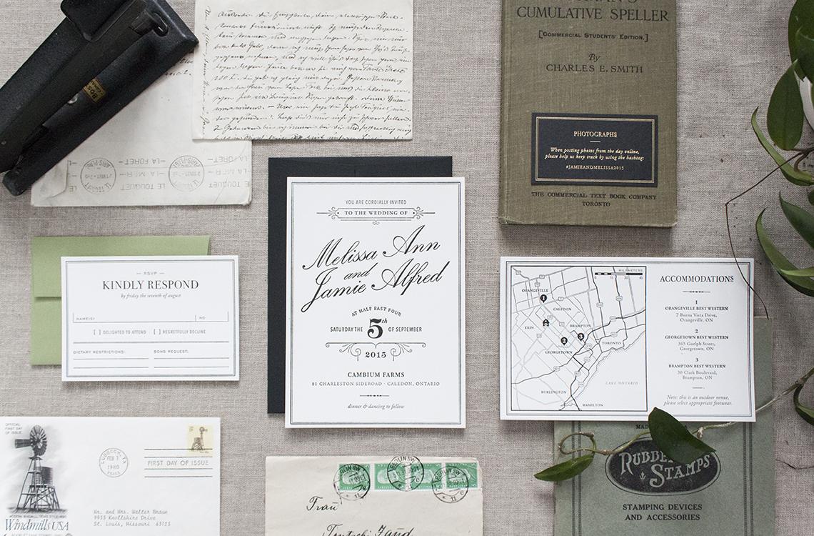 Vintage 1930s Letterpress Invitations — Utility House