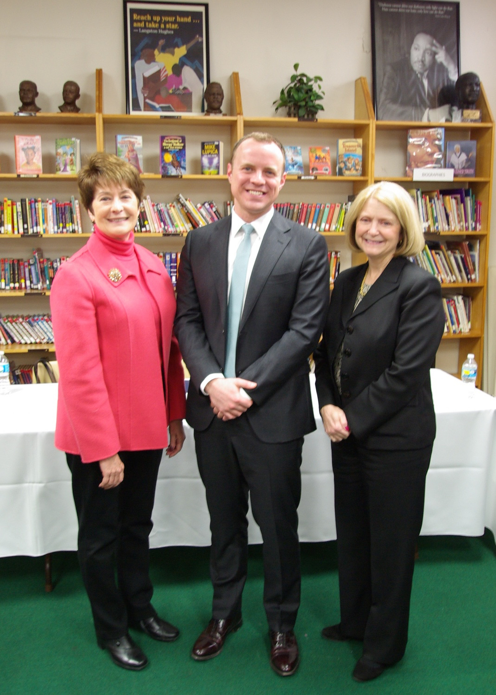 Superintendent of Cincinnati Public Schools Mary Ronan, Accelerate Great Schools CEO Patrick Herrel and Interim Superintendent Susan Gibbons