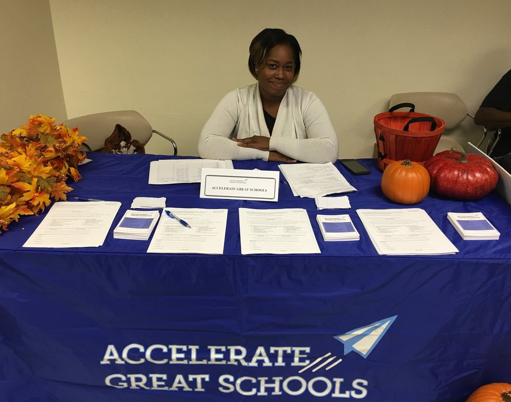 Public Ally Tanisha Chapman participates with Accelerate Great Schools at a Greater Cincinnati Urban League Fall 2016 event.