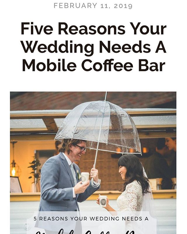 Check out our latest blog post! 5 reasons your wedding needs a mobile coffee bar - link in bio! . #stlwedding #stlcoffee #stl #wilfredthesilocamper #wheregoodthingsgather