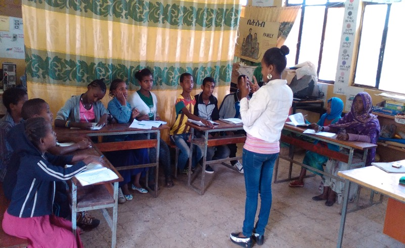 One of our Interpreters hard at work in the classroom