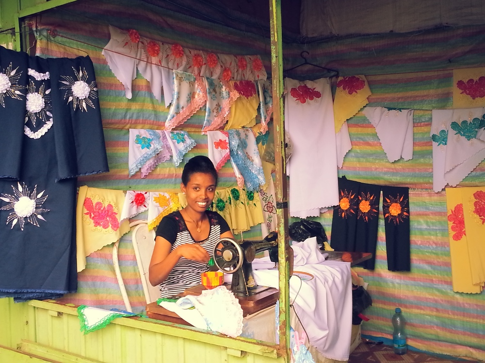 Another Deaf young adult livelihoods development beneficiary now running her own sewing & embroidery shop in Bahir Dar.