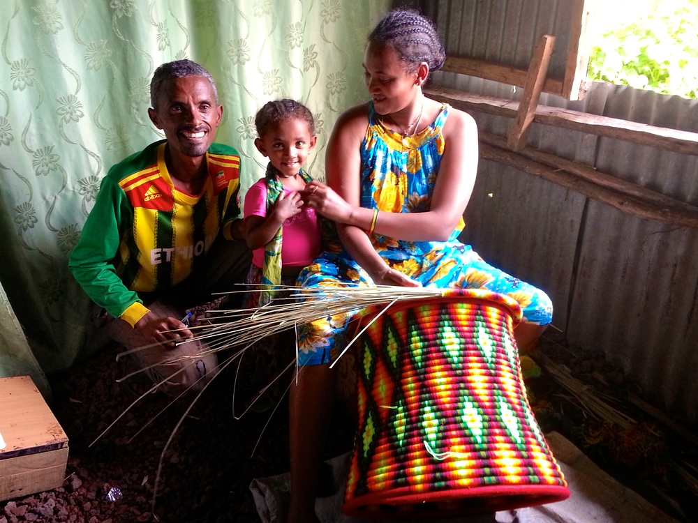 One of our Deaf young adult livelihoods development beneficiaries who is now actively engaged in weaving income-generation projects.