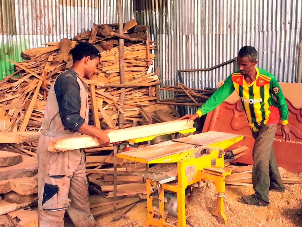 One of our earliest livelihoods development beneficiaries is now running his own successful carpentry & woodworking shop in Bahir Dar.