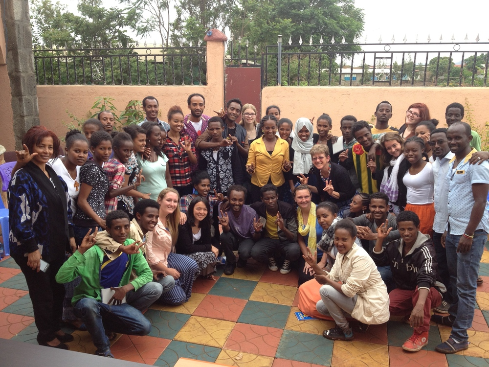 Students from Bahir Dar University's Special Needs Education Department visiting our Center and participating in a special exchange program with a USA-based university (one of 3 universities with which Kal Center is currently partnering).