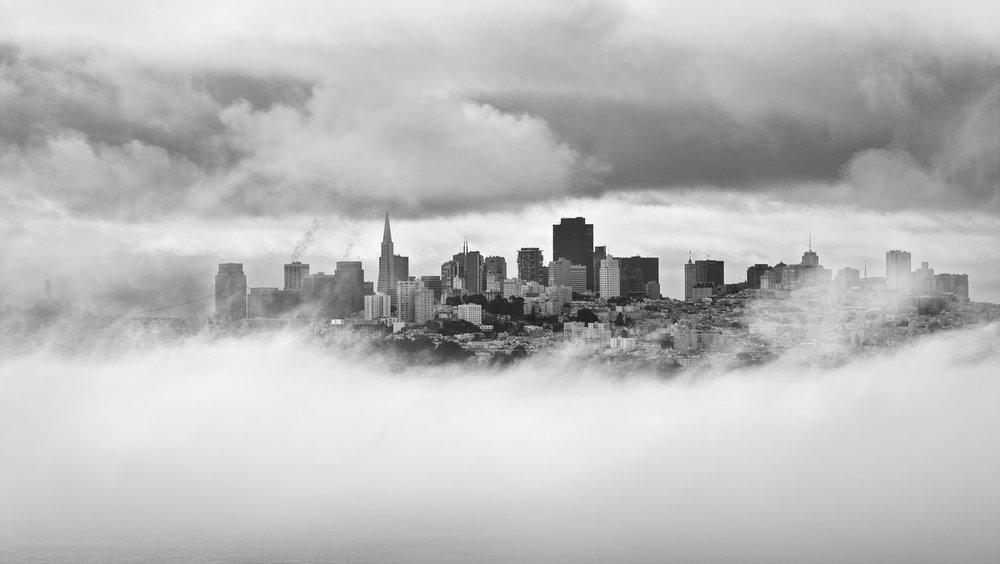 San Francisco, north bay, fog, California