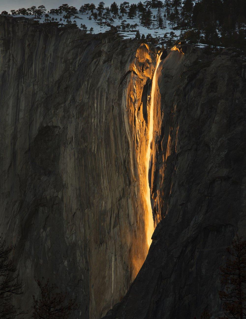 Firefall Yosemite, Yosemite national park