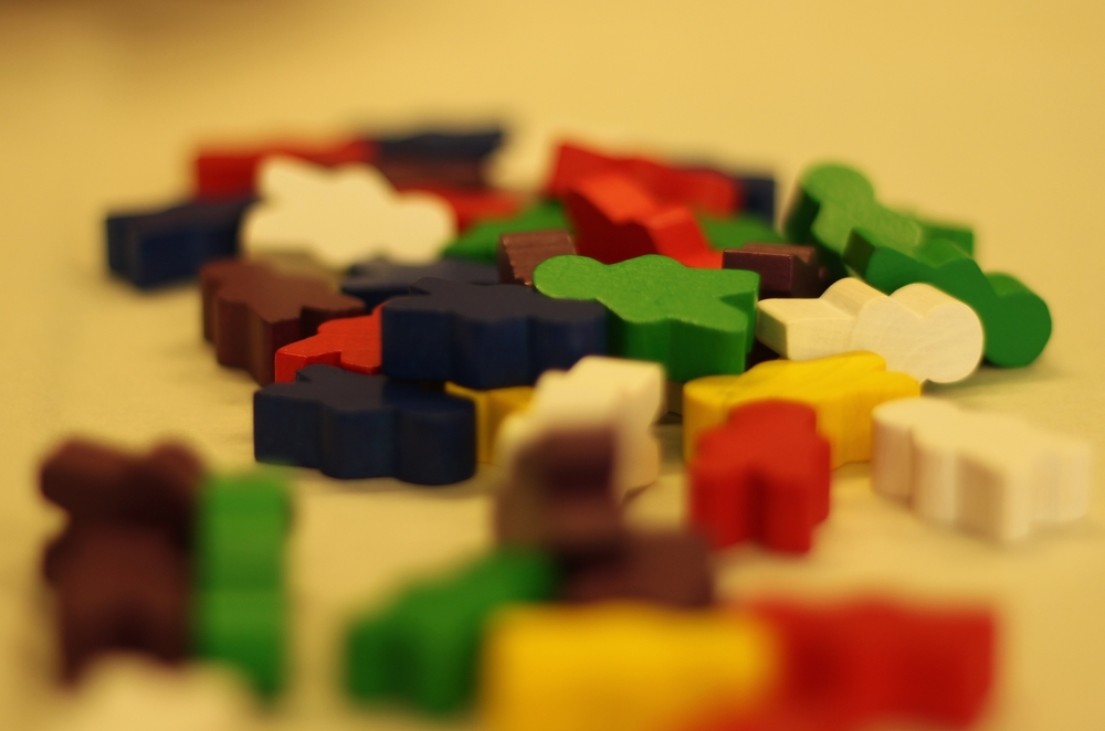 Check out our pile of Meeples! A simple yet fun way to visually map the people in a participant's life.