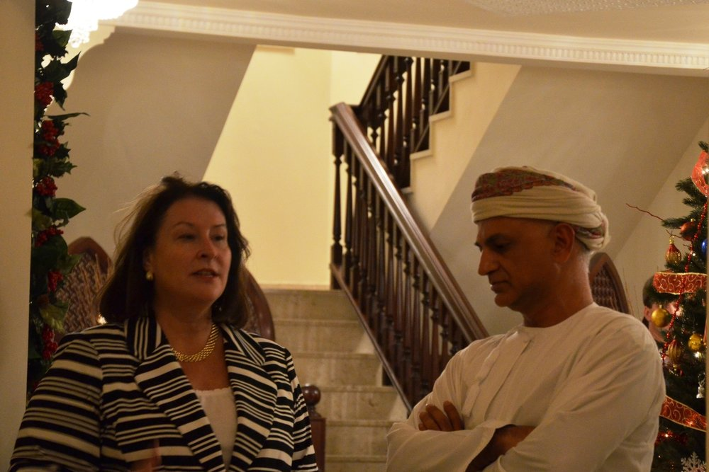 Ambassador Greta Holtz Welcomes our U.S. Delegation to Her Home in Oman