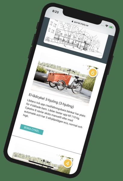 Enkel cykelpool - lådcykelpool i fickan