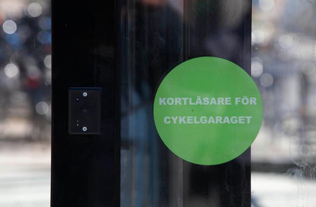 Cykelgarage - Kortläsare för tillträde