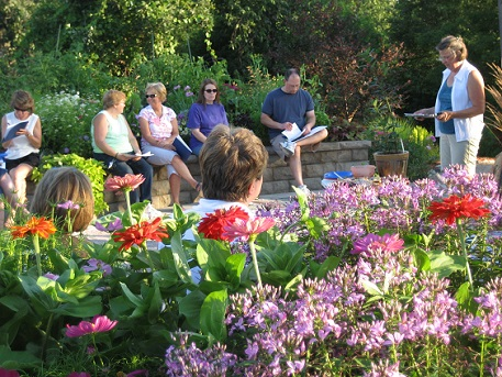 Classes are held in the garden