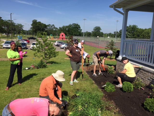 Habitat for humanity landscaping project