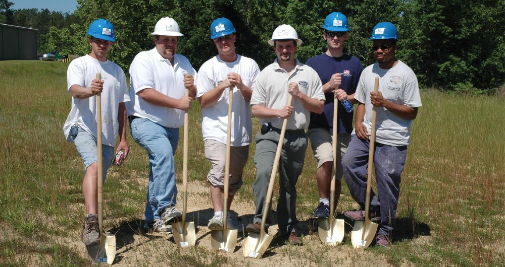 Groundbreaking for the current Ruocchio Designs location in Wake Forest , NC