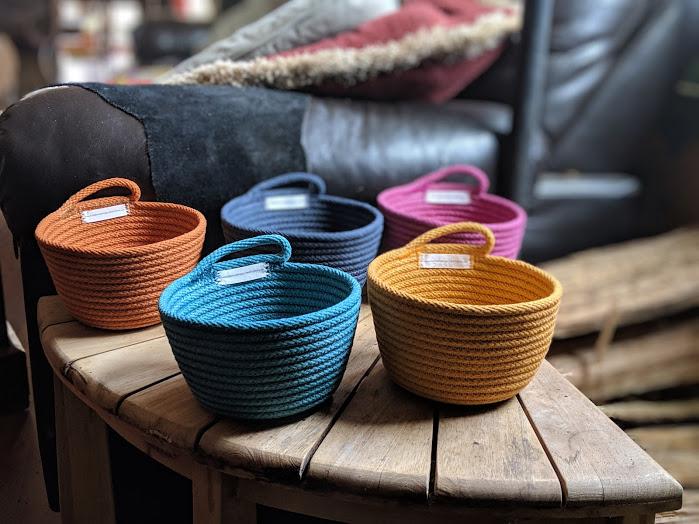 | | hanging bowls that stack | |