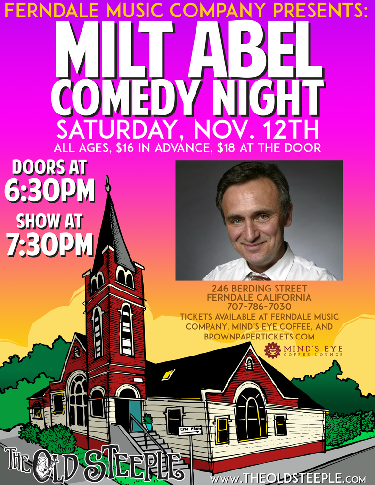 Family friendly comedy at The Old Steeple!