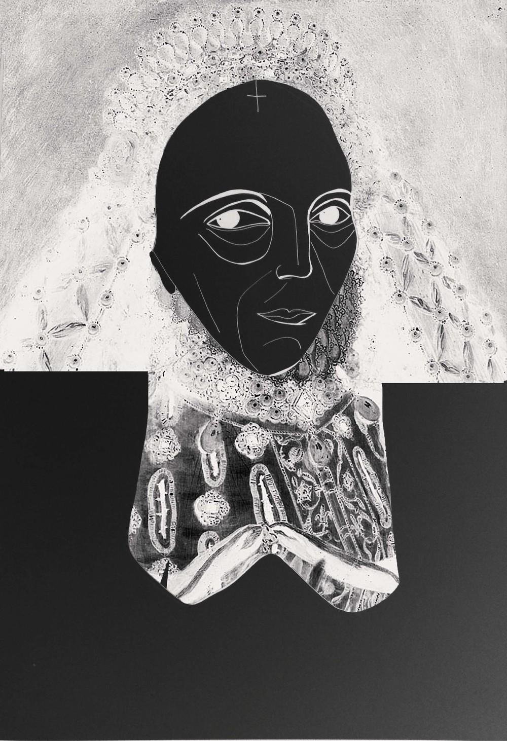 "QUEEN ELIZABETH 30"" x 40"" Print on Canvas $500.00 titbytit@gmail.com"