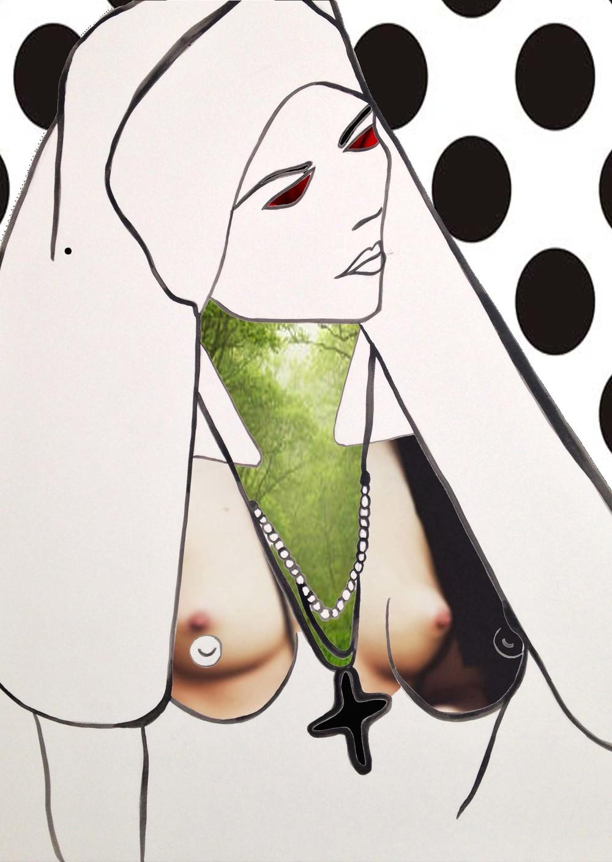"GREEN NUN 30"" x 40"" Print on Canvas $500.00"