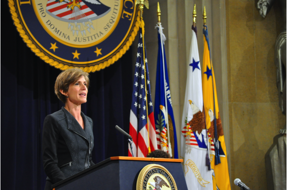 Deputy Attorney General Sally Yates at R2C National Consortium Second Annual Meeting