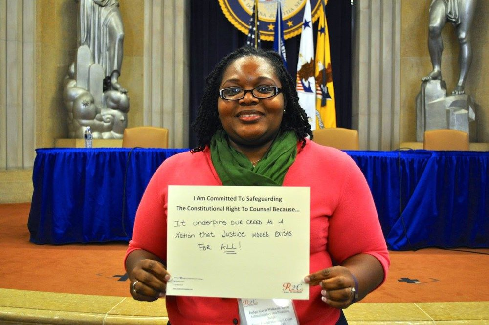 Judge Gayle Williams-Byers #WhyImCommitted #SafeguardingRightToCounsel