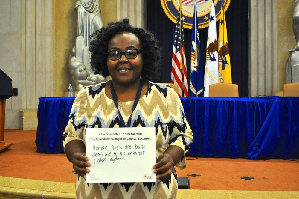 April Frazier-Camara #WhyImCommitted #SafeguardingRightToCounsel