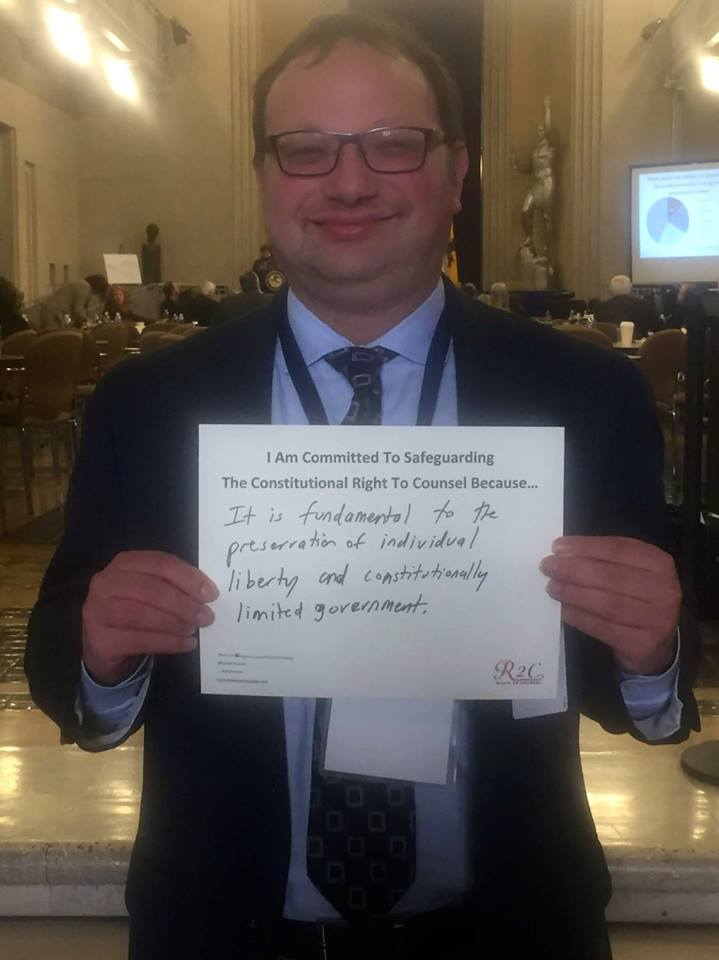 Marc Levin #WhyImCommitted #SafeguardingRightToCounsel