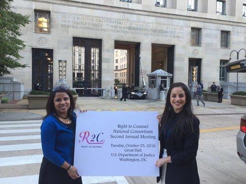 AU JPO's Genevieve Citrin and Preeti Menon; Photo Credit: American University JPO Staff