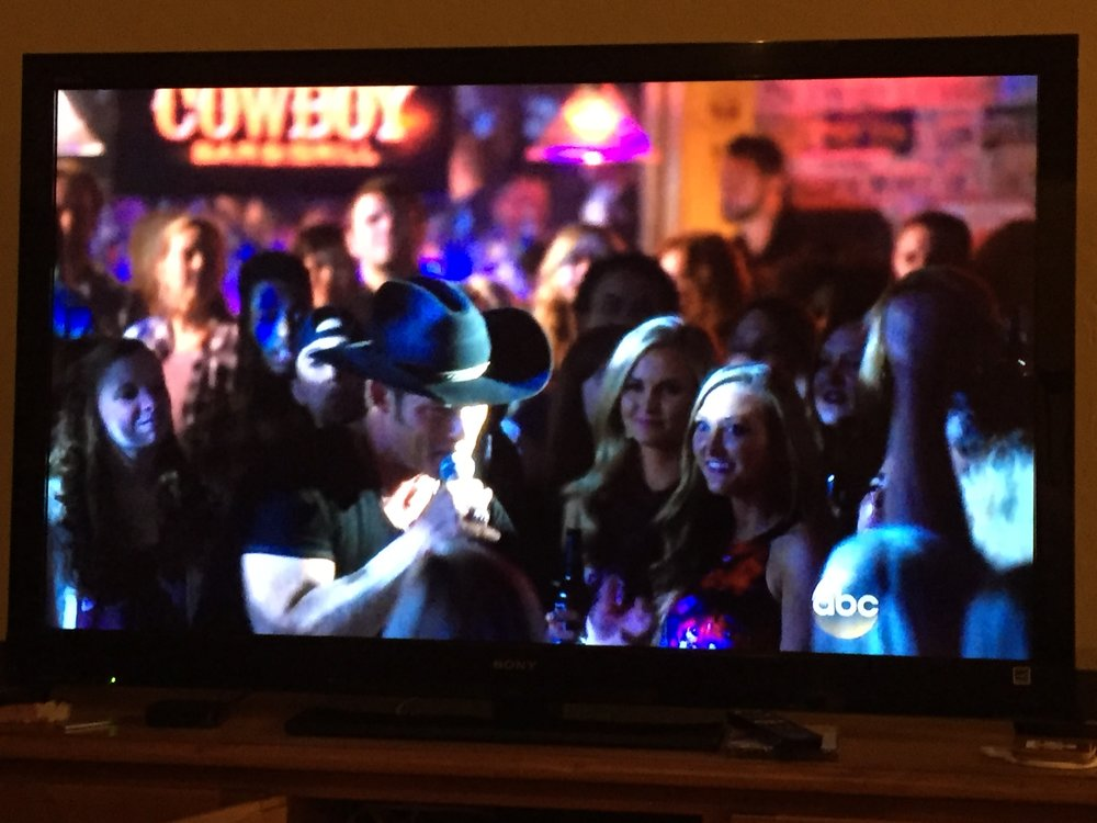 """Here's a bonus picture of us on the TV show """"Nashville"""" Season 4 Episode 6 in the fall of 2015!"""