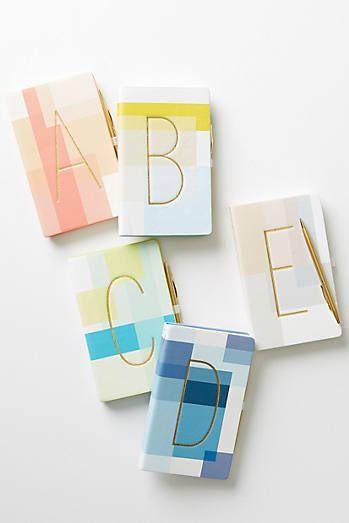 Colorblocked Monogram Journal