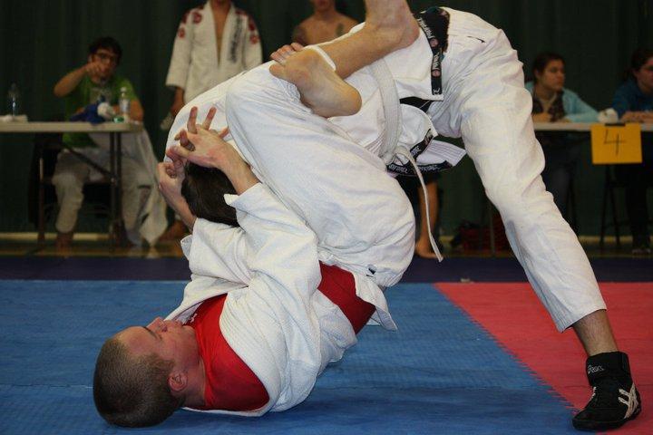 """My very, very brief career in jiu jitsu - shortly before my hip went """" splat ."""""""