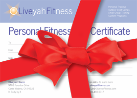personal training holiday gift certificates available now oliveyah