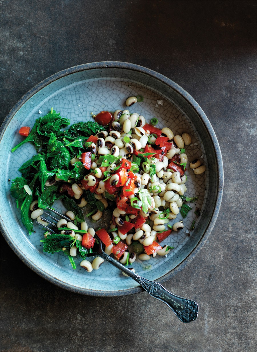 New Years Black-Eyed Peas and Greens