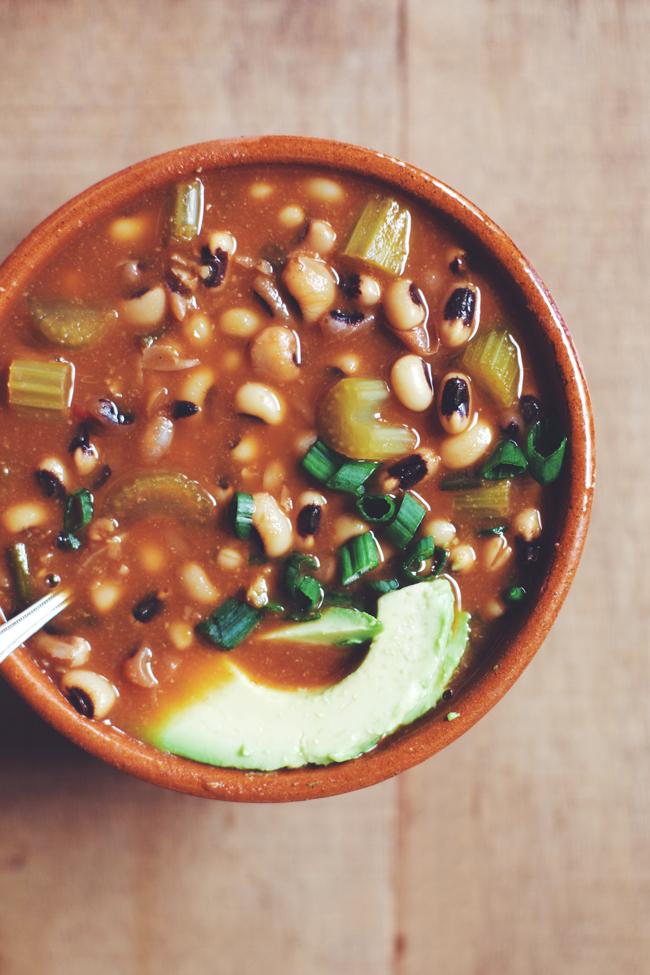 Meatless Black-Eyed Pea Soup