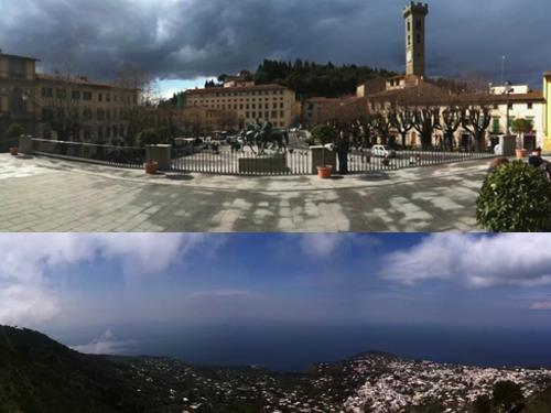 Top = Fiesole, neighbor of Florence. Bottom = Capri, famous Italian island.