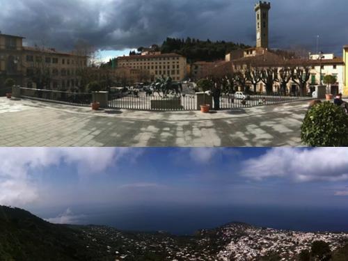 Top = Fiesole, neighbor of Florence. Bottom = Capri, famous Italian island.