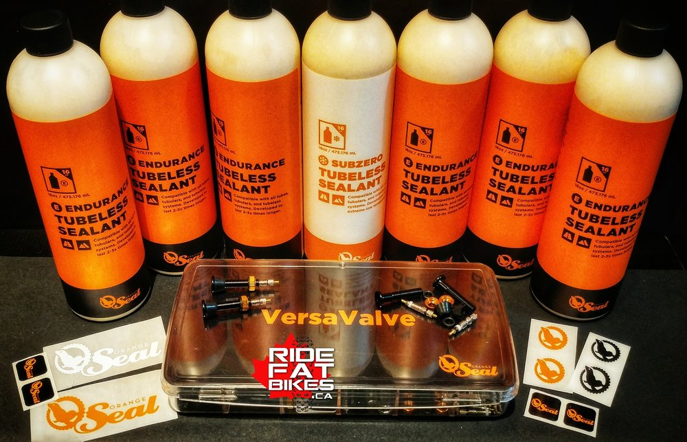 Orange Seal Cycling Products - RideFATBikes.ca - Custom built fat bikes in Canada - the best tubeless tire sealant