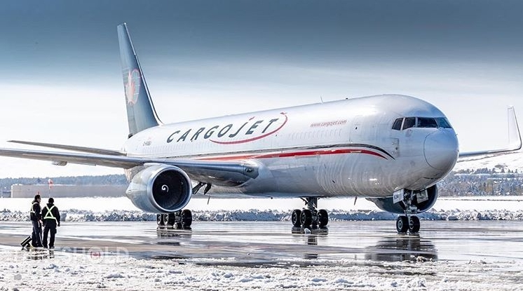 Photo courtesy of CargoJet Airways, YHM Airport NOV 2018