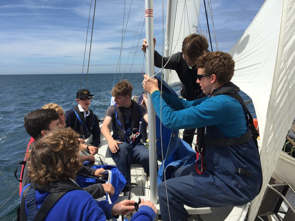 Volunteers and crew on board Donald Searle May 2017