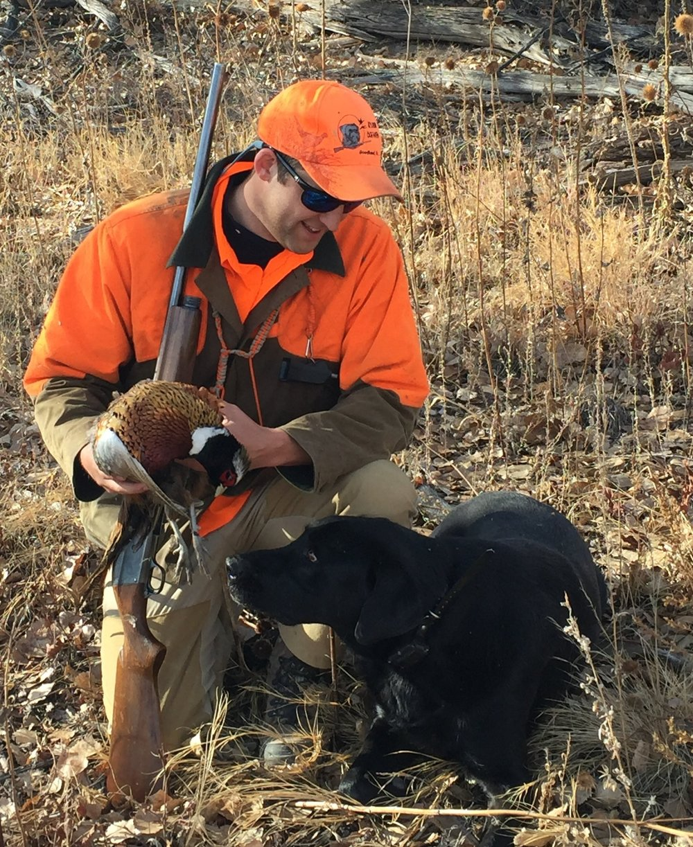 Hunting Attorney Nathaniel Gilbert on a public land pheasant hunt in 2016. Nathaniel is a fierce advocate for outdoorsman both in the courtroom and in the field. Having been raised hunting and fishing, Nathaniel understands the issues and obstacles facing sportsmen and women and dedicates a majority of his legal practice to defending the rights of hunting and fishing advocates in Colorado, Kansas, and nationwide.