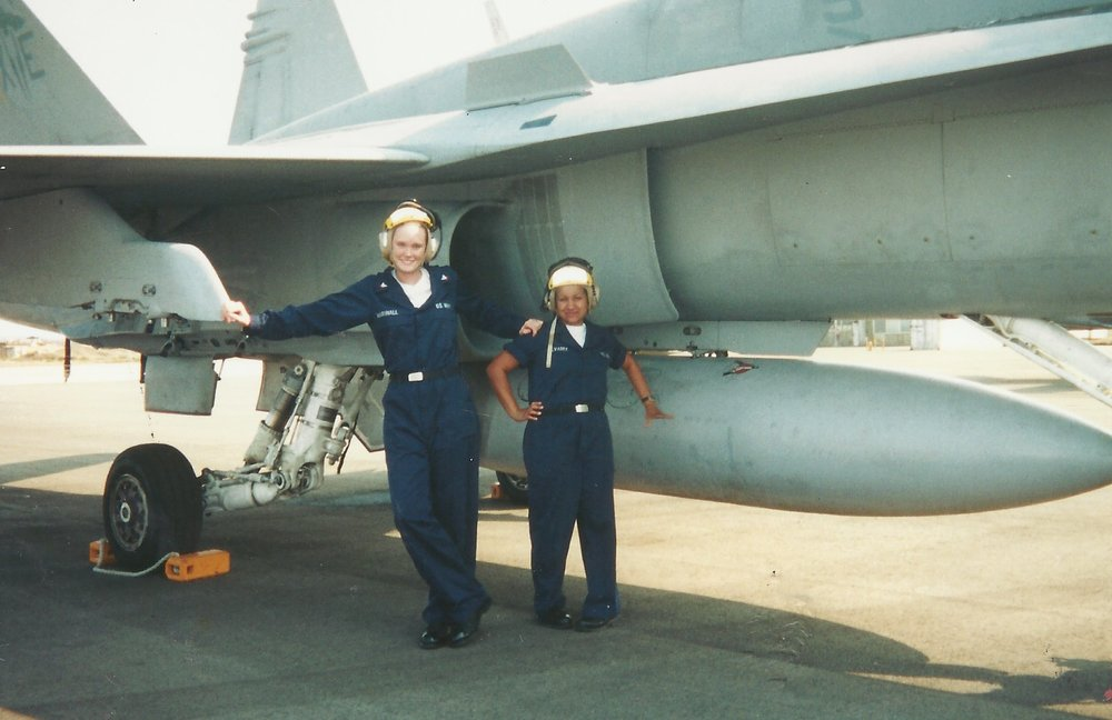 Plane Captains Marshall and Alvarez.JPG