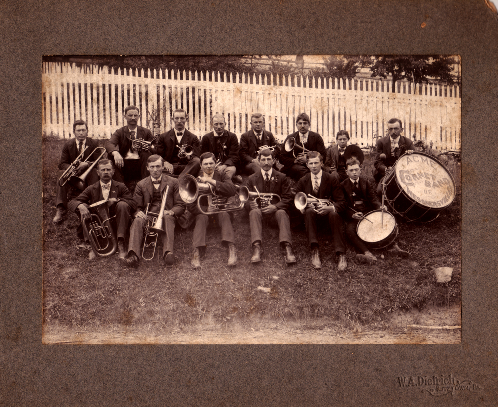 Acme Cornet Band of Wessnersville courtesy of the  Albany Township Historical Society