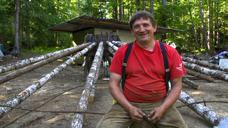 "Logger and builder Peter Schmidt specializes in making beautiful structures out of ""marginally economic"" wood. He also has worked as a faller in the Cortes Community Forest."