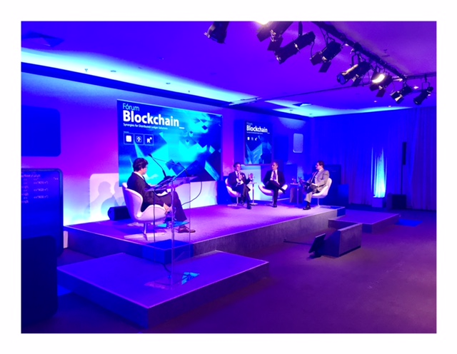 Forum Blockchain in Sao Paulo rocking a blue hue