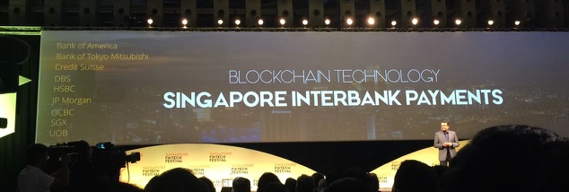 MAS MD Ravi Menon announces MAS-R3 Interbank Payments project at SGFintechFest